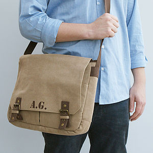 Personalised Men's Laptop Satchel Bag - bespoke accessories