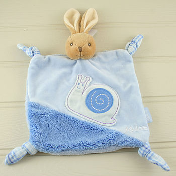 Rabbit With Snail Baby Comforter