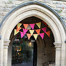 Bright Pink, Orange And Yellow Party Bunting
