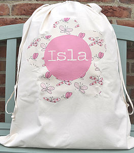 Girl's Personalised Toy/Laundry Sack - children's room