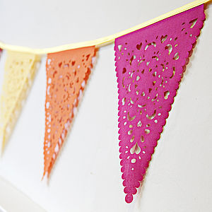 Bright Pink, Orange And Yellow Party Bunting - bunting & garlands