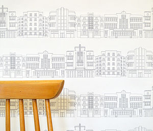 Deco Building Wallpaper