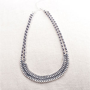 Nannette Box Chain Necklace - statement jewellery