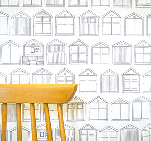 Beach Hut Wallpaper - home decorating