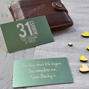 Memorable Date Keepsake Wallet Card