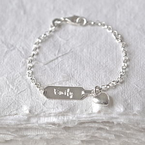 Personalised Baby Bracelet - wedding jewellery