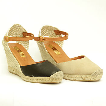 Classic Wedge Espadrille With Ankle Strap