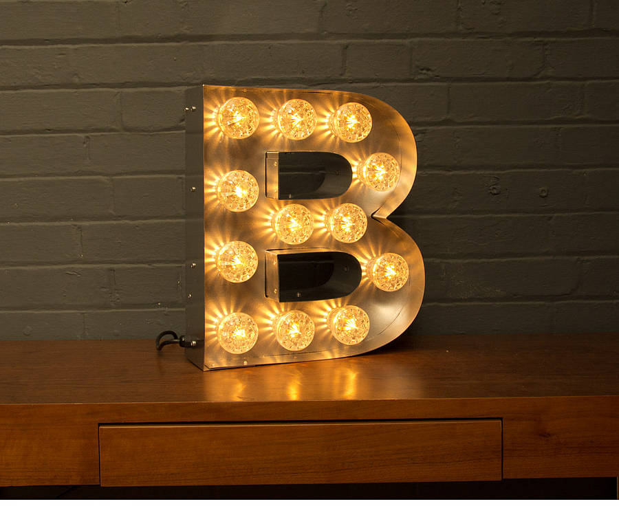 light up marquee bulb letters a to z