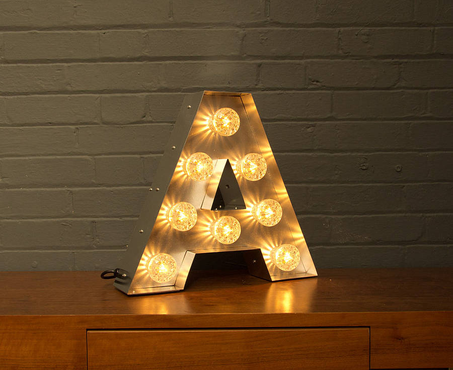 Light Up Marquee Bulb Letters A To Z By Goodwin Amp Goodwin