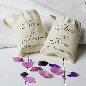 Personalised Wedding Date Mini Gift Bag