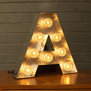 Light Up Marquee Bulb Letters A To Z - home accessories