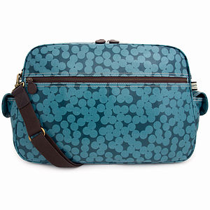 Blue Spot Baby Changing Bag - luxury baby care