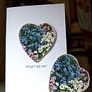 Forget Me Not Heart Seed Card