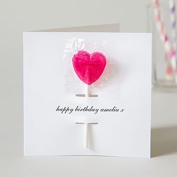 Personalised Birthday Card With Lollipop