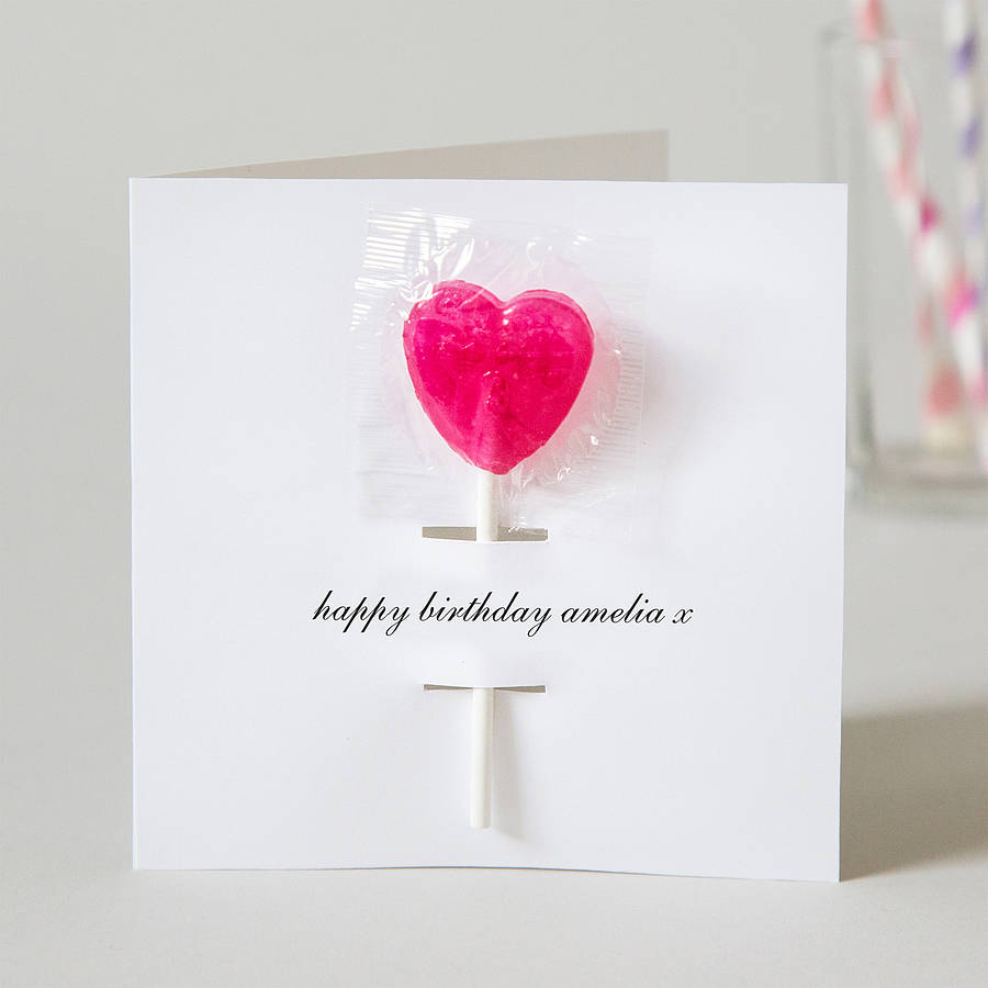 Personalised Birthday Card With Lollipop By Twenty-seven