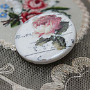 Porcelain Rose Brooch