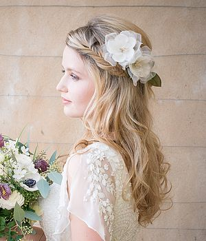 Frances Ivory Silk Hair Flower
