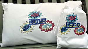Boys Personalised Pillow Case