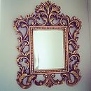 Small Baroque Gold Ornate Detailed Mirror
