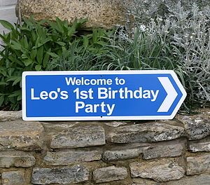 Personalised Party Sign - home accessories