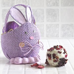 Easter Bunny Bath Truffles Basket