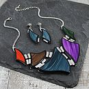 Lampoon Necklace And Earring Set
