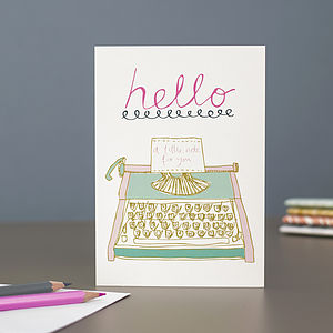 'Hello' Blank Greetings Card