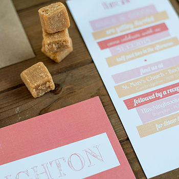Brighton wedding stationery Peach collection