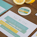 Brighton wedding stationery Citrus collection Save the Date
