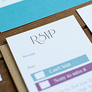 Brighton wedding stationery New England collection RSVP