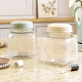 Heart Storage Jar With Lid