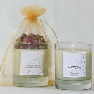 Basil And Lime Soya Wax Candle - candles & candlesticks