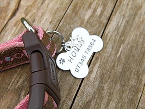 Personalised Dog ID Tag - dogs
