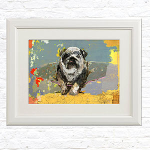 Signed Bulldog Portrait - shop by subject