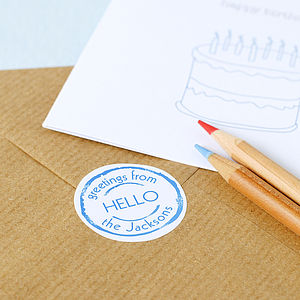 35 Personalised Stickers - diy stationery