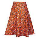 Bow skirt in Mini Orange Raccoons fabric