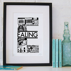 Best Of Ealing Screenprint - posters & prints