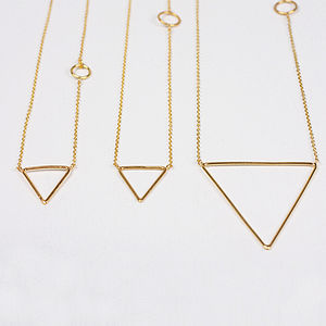 Gold Necklaces, Pyramid - contemporary jewellery