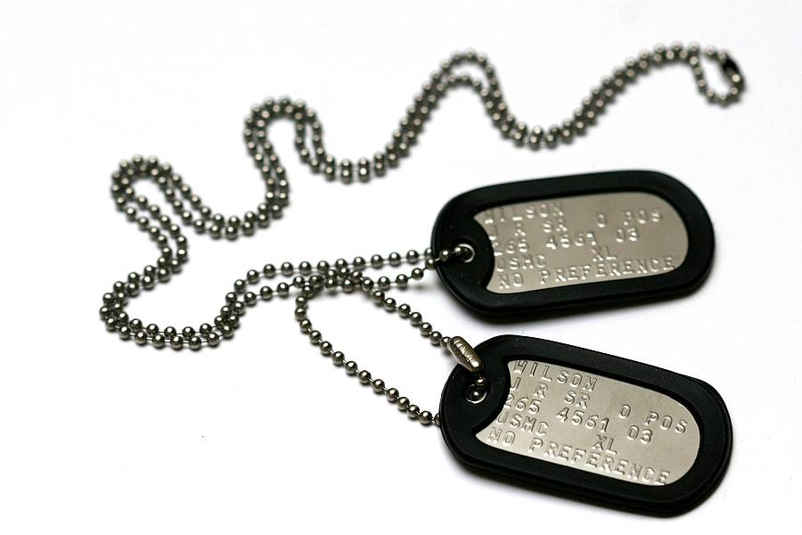 Personalised American Army Dog Tag Necklace