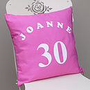 Personalised 'Birthday' Cushion