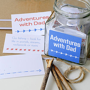 'Adventures With Dad' Jar - sentimental cards