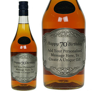 Personalised Classic 70th Birthday Brandy - wines, beers & spirits