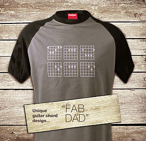 Fab Dad 'Chords' T Shirt - t-shirts & vests