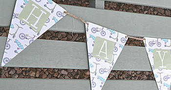 Boy's Personalised Tin Bunting