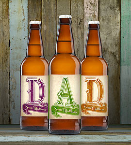 Personalised Set Of Three Beers For Dad - food gifts