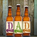 Personalised Set Of Three Beers For Dad