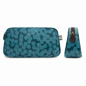 Blue Spot Wash Bag - gifts for her