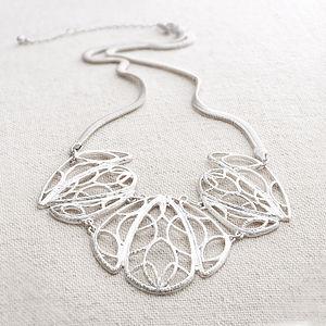 Estee Filagree Leaf Necklace