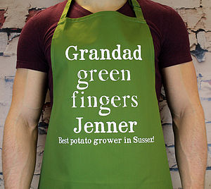 Personalised Gardening Apron - 60th birthday gifts