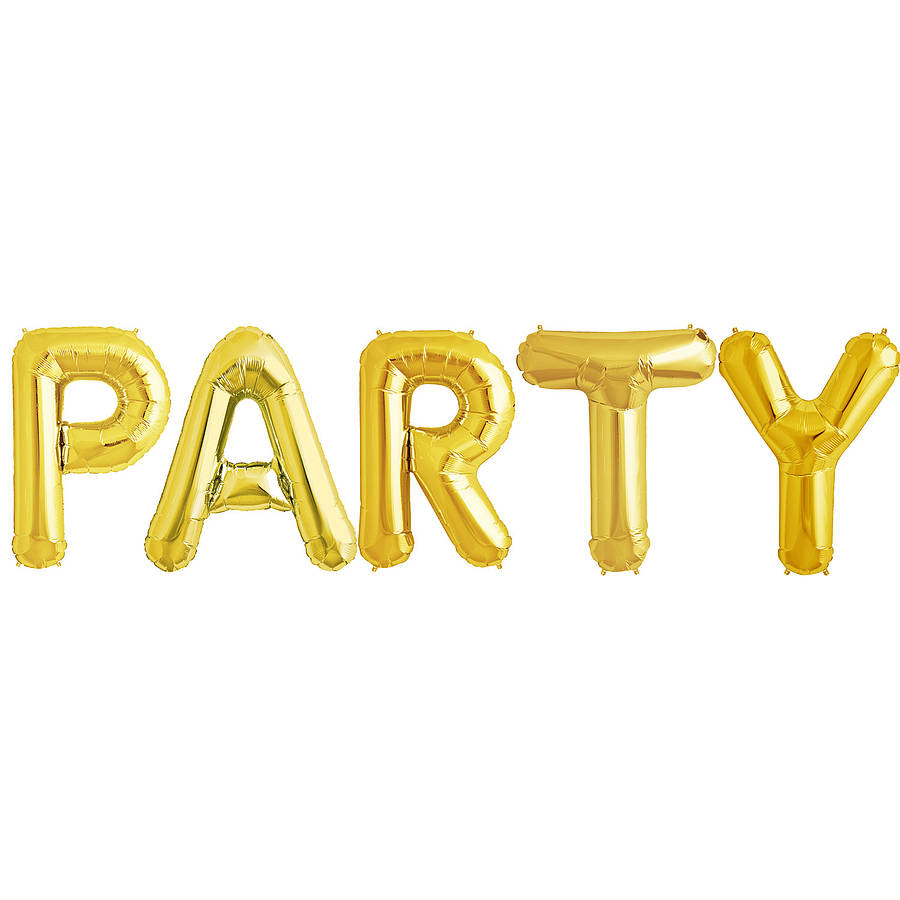 party 16 inch balloon letters by bubblegum balloons With 16 balloon letters